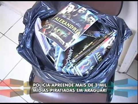 PC apreende mais de 3 mil mídias pirateadas em Araguari