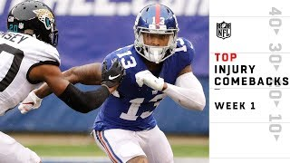 Top Plays by Players Returning from Injury | NFL Week 1 Highlights