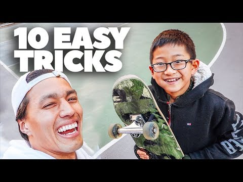 10 EASY TRICKS TO PREPARE YOU FOR SKATEBOARDING!!