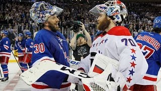 Rangers And Capitals Shake Hands After Game 7