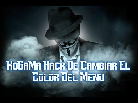 KoGaMa Hack Cambiar Color Del Menu