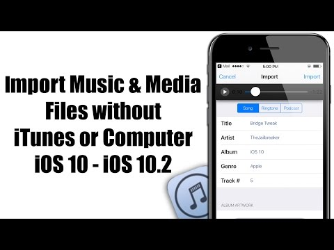 How to IMPORT Music & Media Files without iTunes or Computer - iOS 10 / 10.2