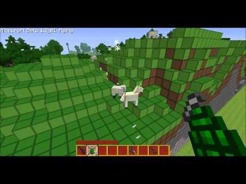 Minecraft Beta 1.3.01 Flying