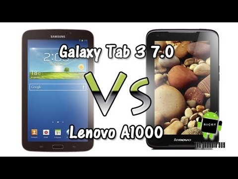 Galaxy Tab 3 7.0 vs Lenovo A1000 (Comparison)