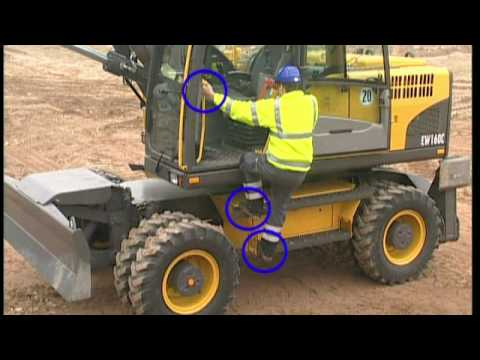 Cab features of a Volvo C-Series Wheeled Excavator (Part 3 of 16)