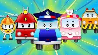 Super5 Squad Rescue Team on a Mission to Save Baby Car Luna | Kids Car Cartoon