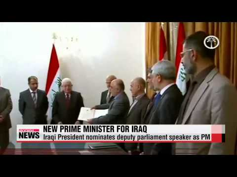 Iraqi president names a replacement for Nuri al-Maliki