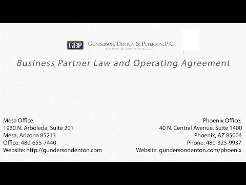 Business Partner Law and Operating Agreement by Attorney Sterling Peterson