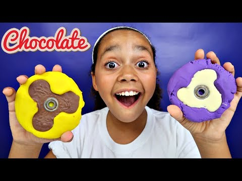 DIY Chocolate Candy Fidget Spinner! (Play Doh Molds) Kids Toy Review   Toys AndMe