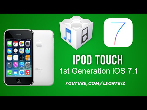 Install iOS 7.1 on iPod Touch 1st Generation / 2G /3GS and Jailbreak - WhiteD00r