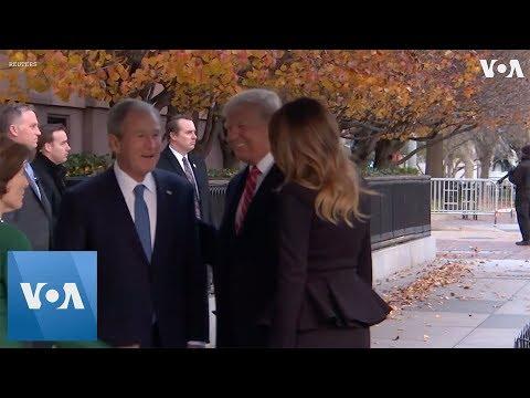 Trumps Visit the Bush Family at Blair House