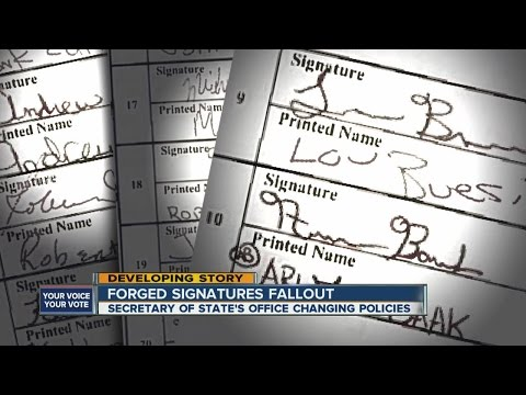 Forged signatures fallout: Secretary of State's Office changing policies