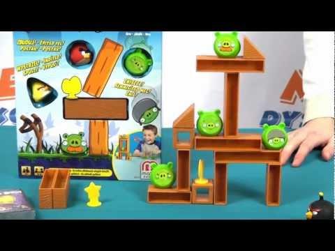 Knock On Wood Game / Gra rodzinna - Angry Birds - Mattel - www.MegaDyskont.pl