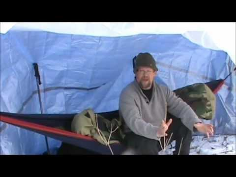 ENO Hammock Super Shelter II--Winter Camping: Sleeping Warm In The Snow & Ice