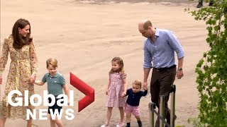 Prince William, Kate play with kids in garden at Chelsea Flower Show