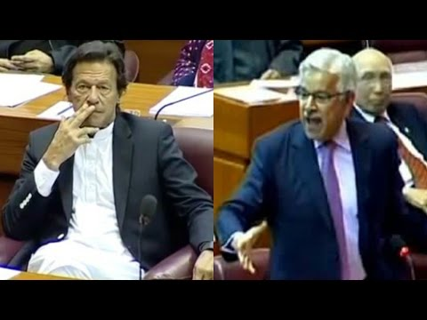 Khawaja Asif Calls Imran Khan Meesna (Cunning) in National Assembly