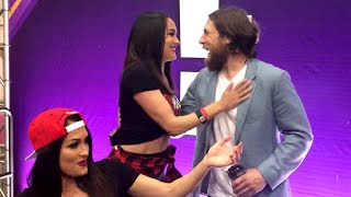 Daniel Bryan surprises Brie with a kiss: WrestleMania Diary
