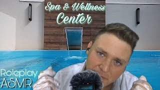 ASMR 🏖 ROLEPLAY - Spa & Wellness Center ⛲️ Visual background 🌊 Pool Waterfall 🌊 with sounds!