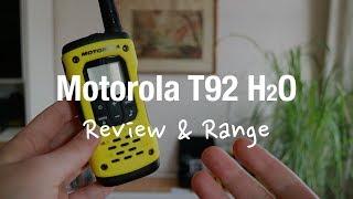 Motorola TLKR T92 h2o - Two Way Radio (Review and Range Test)