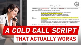 How to Build a Cold Call Script that Works