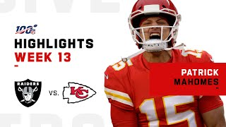 Patrick Mahomes Highlights vs. Raiders | NFL 2019