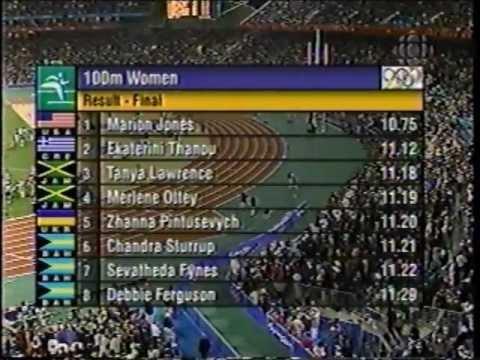 2000 Olympics (100m Final) - Marion Jones (10.75) - Sydney, Australia