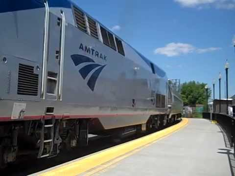 Amtrak Adirondack Leaving Rouses Point with NYC Observation Car