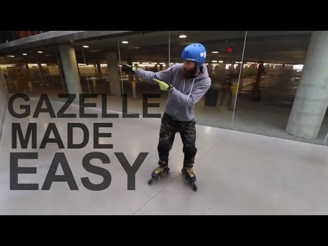 GAZELLE IN TWO STEPS - Powerslide and T push