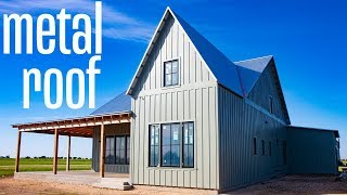 The BEST Metal Roof for a Modern Farmhouse - Galvanized vs Galvalume - Whats the difference?