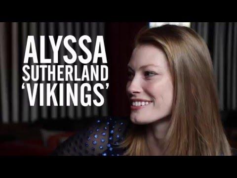 'Vikings' Star Alyssa Sutherland Talks Male Costars' Hair Extension Troubles