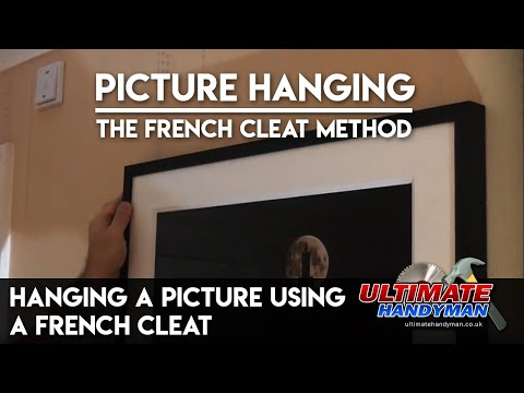 Hanging a picture using a French cleat