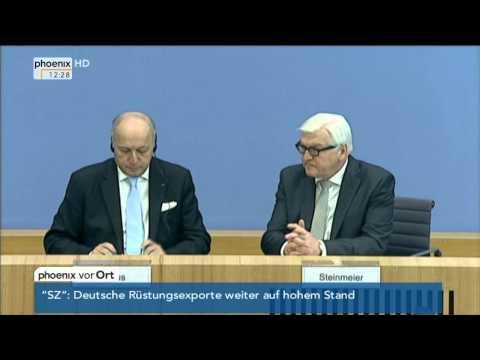 Ebola-Epidemie: Frank-Walter Steinmeier zur aktuellen Lage am 15.10.2014