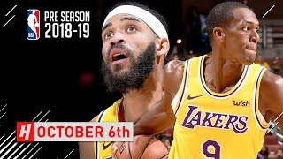 Rajon Rondo & JaVale McGee Full Highlights Lakers vs Clippers 2018.10.06 - TOO SICK!