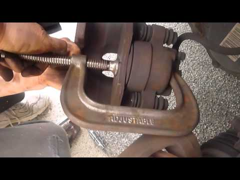 How To replace dodge caravan front brake pad