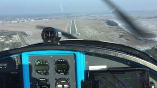 Approach and landing at EDAY (Berlin-Strausberg)