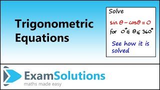 Trigonometry : Solving Equations using identities (Example 1) : ExamSolutions