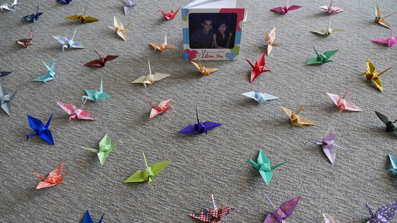 Paper Cranes Wedding Video Youtube Paper Cranes Wedding Proposal