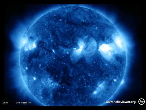 Lightsabers -  AIA 335 (2011-08-03 02:04:39 - 2011-08-05 01:10:15 UTC)