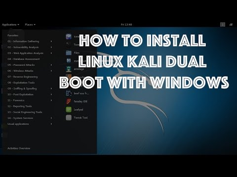 How To Install Kali Linux 2 0 Dual Boot With Windows 10 On Laptop Using Bootable USB
