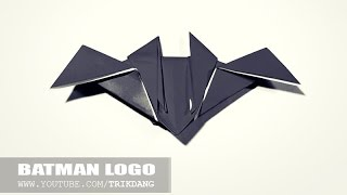 Origami for Kids: How to make an Easy Origami Batman Logo