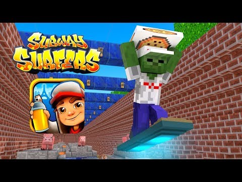 Monster School : SUBWAY SURFERS Pizza Delivery Challenge - Minecraft Animation