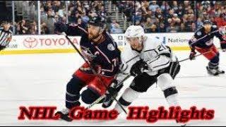 Columbus Blue Jackets vs Los Angeles Kings - 13.12. NHL Highlights Season 2018-2019