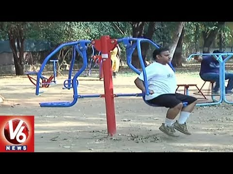 Huge Response For GMHC Open Gyms In Public Parks | Hyderabad | V6 News