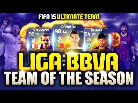 LIGA BBVA TOTS! NEYMAR & RONALDO! FIFA 15 Ultimate Team (Card Predictions & Stats)