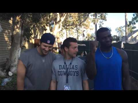 Dez Bryant and Tony Romo #ALS Ice Bucket Challenge at Dallas Cowboys camp.