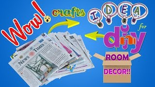 DIY ROOM DECOR! 3 Easy Crafts Ideas at Home   Best Out Of Waste  DIY Crafts Projects