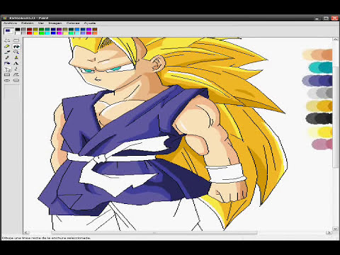Goku SSJ 3 From DB Gt Competition W/ AFkzOrDbZ - ms paint drawing