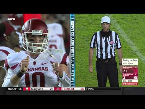 Alabama vs Arkansas 2015 Full Game (Just The Plays)