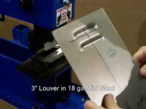 Mittler Brothers Bench Press With Louver Tool Youtube