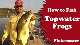 How to Fish Topwater Frogs - Bass Fishing